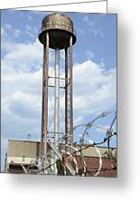 Water Tower In Detroit Greeting Card