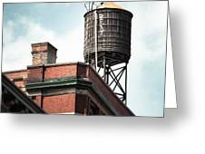 Water Tower In New York City - New York Water Tower 13 Greeting Card