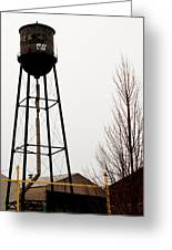Water Tower In River Rouge Greeting Card