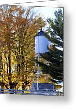 Water Tower Greeting Card by Kathy DesJardins