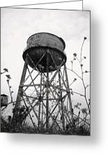 Water Tower Greeting Card by Michael Grubb