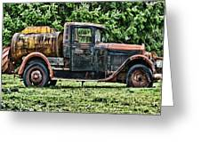 Water Truck Greeting Card