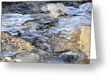 Water Under Ice Greeting Card