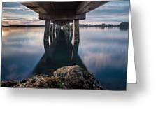 Water Under The Pier Greeting Card