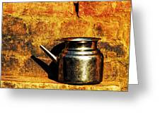 Water Vessel Greeting Card by Prakash Ghai