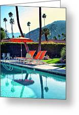 Water Waiting Palm Springs Greeting Card