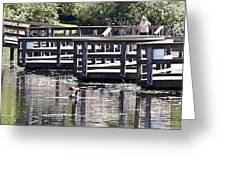 Water Walk Greeting Card