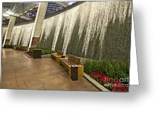 Water Wall - Aria Resort Las Vegas Greeting Card