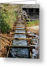 Water Way To Mill Greeting Card