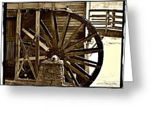 Water Wheel At The Grist Mill Greeting Card