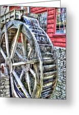 Water Wheel On Mill Greeting Card
