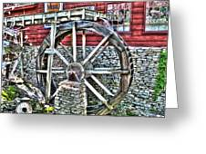 Water Wheel On Mill V2 Greeting Card