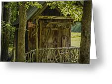 Water Wheel Shed I Greeting Card