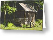 Water Wheel Shed Greeting Card