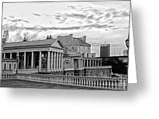 Water Works In Black And White Greeting Card