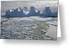 Water Worn Iceberg In Sea Ice Lazarev Greeting Card