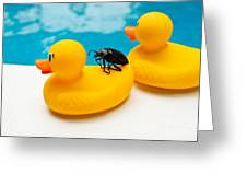 Waterbug Takes Yellow Taxi Greeting Card