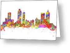 Watercolor Art Print Of The Skyline Of Atlanta Georgia Usa Greeting Card
