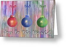 Watercolor Christmas Bulbs Greeting Card