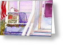 Purple Porch Greeting Card