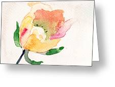 Watercolor Illustration With Beautiful Flower  Greeting Card