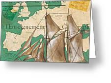 Watercolor Map 1 Greeting Card