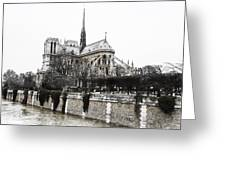 Watercolor Notre Dame Greeting Card