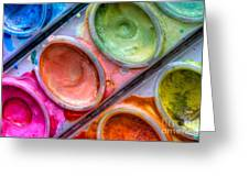 Watercolor Ovals One Greeting Card