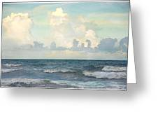 Watercolor Photograph Of Atlantic Ocean Greeting Card