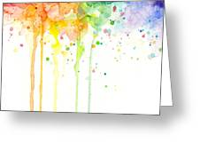Watercolor Rainbow Greeting Card
