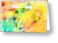 Watercolor Wildflowers - Digital Paint Greeting Card