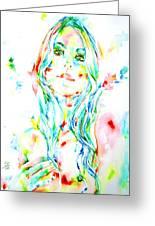 Watercolor Woman.1 Greeting Card