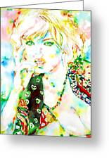 Watercolor Woman.3 Greeting Card