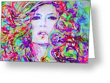 Watercolor Woman.32 Greeting Card