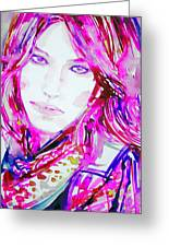 Watercolor Woman.33 Greeting Card