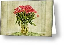 Watercolour Tulips Greeting Card by John Edwards