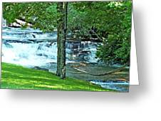 Waterfall And Hammock In Summer 2 Greeting Card