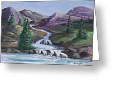 Purple Mountain River Greeting Card