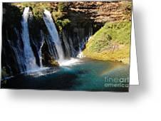 Waterfall And Rainbow 4 Greeting Card