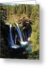 Waterfall And Rainbow Greeting Card