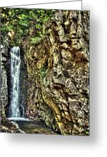 Waterfall At Castle In The Clouds Greeting Card