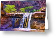 Waterfall At Coyote Creek Greeting Card