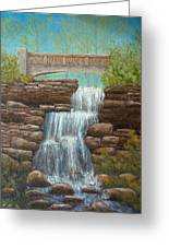 Waterfall At East Hampton Greeting Card