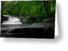 Waterfall At George W Childs Park Greeting Card