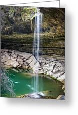 Waterfall At Hamilton Pool Greeting Card
