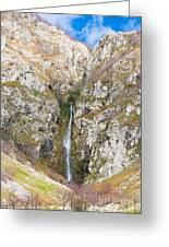 Waterfall At Lago Del Matese Greeting Card