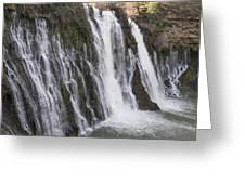 Waterfall At Macarthur-burney Falls State Park  Greeting Card