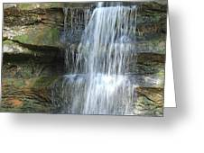 Waterfall At Old Man's Cave Greeting Card