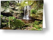 Waterfall At Roughting Linn Greeting Card