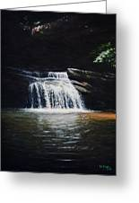 Waterfall At Table Rock National Forest Greeting Card